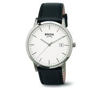 Boccia Herren-Armbanduhr Analog Quarz Leder 3588-01