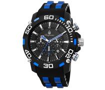 Armbanduhr für Herren mit Analog-Anzeige, Chronograph mit Kunststoff Armband - Wasserdichte Herrenarmbanduhr mit zeitlosem, schickem Design - klassische Uhr für Männer - BMT01-622B Imola