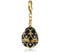 Jewelry Damen-Anhänger Messing Emaille Mega Charm Vergoldet 5.0 cm schwarz 411342104