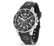 Sector-r3251161002-230-Armbanduhr-Quarz Chronograph-Zifferblatt schwarz Armband Kunststoff schwarz