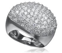 Orphelia Damen-Ring 925 Silber rhodiniert Zirkonia weiß Rundschliff Gr. 58 (18.5) - ZR-3611/58