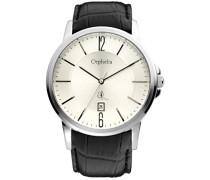 Herren-Armbanduhr XL Analog Leder 132-6708-84