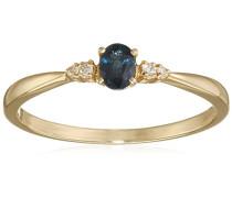 Damen-Ring 9 Karat (375) Gelbgold Saphir badm 07010-0001