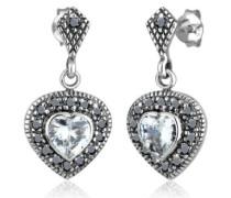 Damen-Ohrstecker Kristall Zirkonia 925 Sterling Silber weiß 0306781713