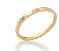 Damen-Ring Memoire 18 Karat (750) Gelbgold mit Brillanten 0.04ct