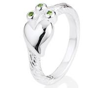 Heartbreaker Damen- Ring Lebensbaum 925 Silber Brillantschliff Zirkonia grün Gr. 60 (19.1) LD LB 11