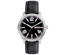 s.Oliver Herren-Armbanduhr XL Analog Quarz Leder SO-2631-LQ