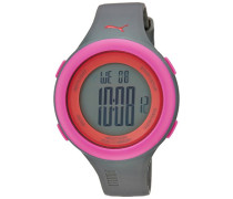 Puma PU910961004–Uhr Digital Unisex, Kunststoff-Armband Grau