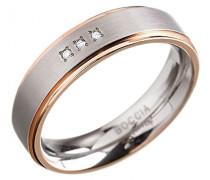 Damen-Ring Titan Diamant (0.03 ct) weiß Brillantschliff