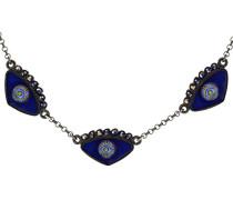 Emaille Halskette Evil Eye, Blau
