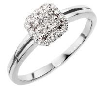 Goldmaid Damen-Ring 18 Karat 750 Weißgold Glamourfassung 25 Brillanten 0,25 ct. Gr. 58 (18.5) Pa R3630WG75058