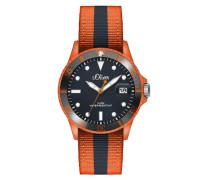 s.Oliver Herren-Armbanduhr XL Analog Quarz Textil SO-2687-LQ