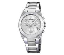 Herren-Armbanduhr XL Analog Quarz Edelstahl F16757/1