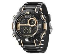 Timberland Tremont Herren Quarz-Uhr mit LCD Digital Display und schwarz Gummiband 14503jpbg/02