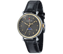 Herren- Armbanduhr Grand Calendar Analog Quarz