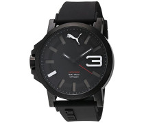 Puma Time Herren-Armbanduhr PU-Ultrasize 50 Bold black and white Analog Quarz Kautschuk PU103911005