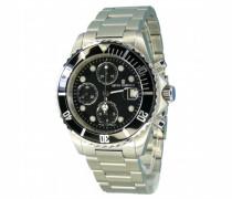 Herren-Armbanduhr XL Diver Chronograph Automatik Edelstahl 17571.6137