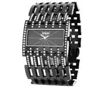 M&M Damen-Armbanduhr Analog Quarz Edelstahl M11652-785