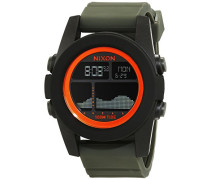 Herren-Armbanduhr Unit Tide, Black / Surplus / Orange Digital Quarz Silikon A2822050-00