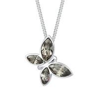 Premium Halskette Schmetterling Swarovski Kristalle 925 Silber 0112590916