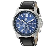 Herren-Armbanduhr Chronograph Quarz Leder BM608-132