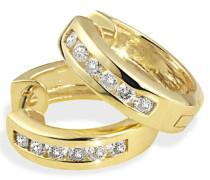 Damen-Ohrstecker Memoire 585 Gelbgold 12 Diamanten 0,50ct Me Brillanten Schmuck