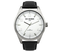 BEN SHERMAN Herren-Armbanduhr Big Carnaby Heritage Analog Quarz Leder WB022S