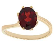 Damen-Ring 9 K Gelbgold Zirkonia rot