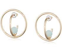 Damen-Ohrstecker Vergoldet Glas grün Rundschliff - 261722443