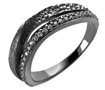 Damen-Ring 925 Silber Zirkonia weiß Brillantschliff