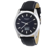 Regent Herren-Armbanduhr XL Analog - Digital Quarz Leder 11030109