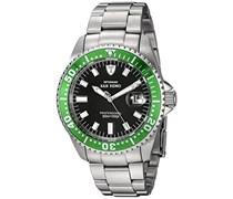 DETOMASO Herren-Armbanduhr Oceanmaster Prof. Green Analog Automatik DT1025-B
