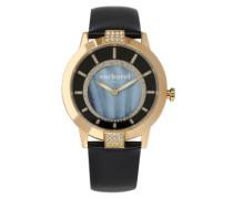 Damen-Armbanduhr Analog Quarz Leder CLD 009S-1AA