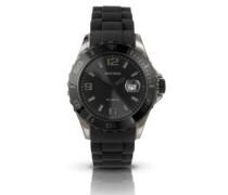 Unisex-Armbanduhr Analog Silikon schwarz 3383.27