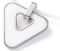 Damen-Halskette Dreieck Edelstahl Achat weiß 100 cm 50510