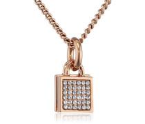 Dyrberg/Kern Damen-Kette mit Anhänger 15/02 Satile Rg Crystal Messing teilvergoldet 22.8 cm - 338106