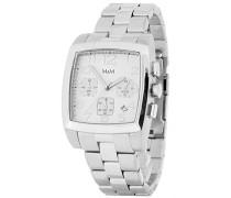 M&M Herren-Armbanduhr Chronograph Quarz Edelstahl M11621-177