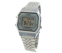 Damen Digital mit Edelstahl Armbanduhr LA680WA 7D
