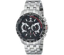Armbanduhr für Herren mit Analog-Anzeige, Chronograph mit Edelstahl Armband - Wasserdichte Herrenarmbanduhr mit zeitlosem, schickem Design - klassische Uhr für Männer - BM530-121C Chester