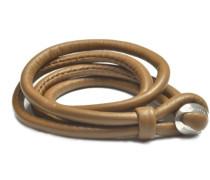 Damen-Armband Leder LBC-02-brown-20cm