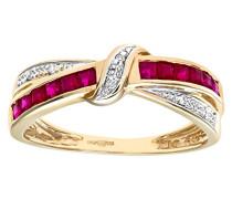 Damen-Ring 9 K 375 Weißgold