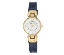 Damen-Armbanduhr Analog Quarz Leder AK/1394MPNV