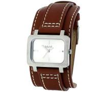 M&M Damen-Armbanduhr Analog Quarz Leder M11607-522