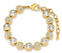 Damen-Armband längenverstellbar vergoldet Swarovski Kristalle 17 + 3 cm