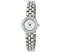 Women'- Armbanduhr Pearl Dial Analog-Anzeige und Silber-Edelstahl-Armband/AK N1031MPSV