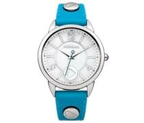 Morgan Damen-Armbanduhr Analog Quarz Blau M1193U