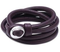 Damen-Armband Leder LBC-02-purple-18cm