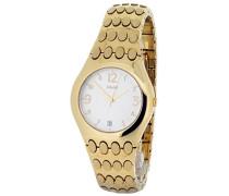M&M Damen-Armbanduhr Analog Quarz Edelstahl M15462-202