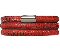 Damen-Armband JLo Reptil 2-reihig Edelstahl Leder 36.0 cm - 1002-36