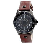 Herren-Armbanduhr XL Analog Quarz Leder 701343501
